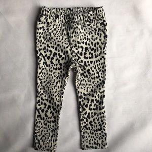 Gap leopard skinny jeans size 2T stretch girls EUC